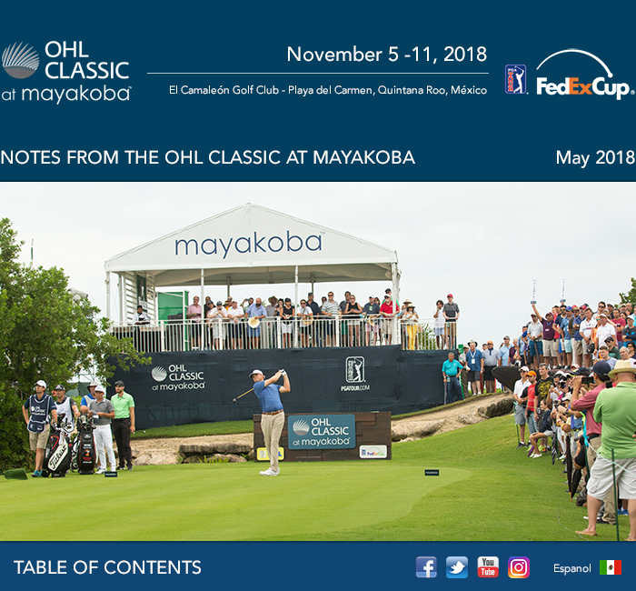 Notes from the OHL Classic at Mayakoba - May 2018